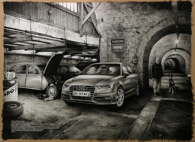 2013 - Wish List, Audi A3 - acrylique sur papier, 80 x 111,5 cm