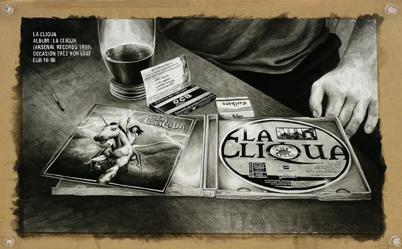 2013 - Wish List, Cd La Cliqua - acrylique sur papier, 25 x 40 cm