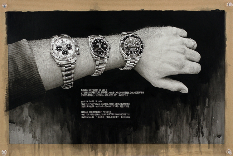 2013 - Wish List, Rolex - acrylique sur papier, 29 x 43,5 cm