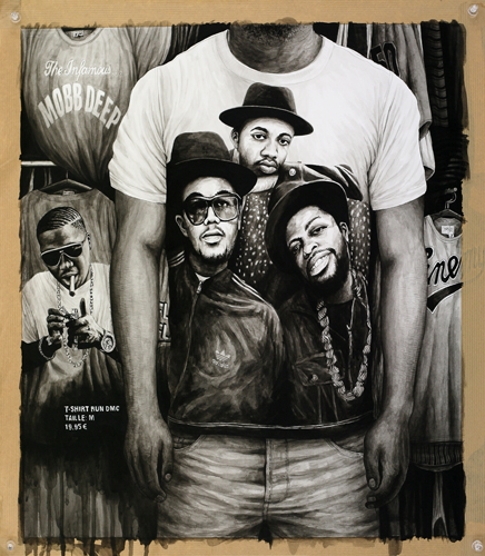 2013 - Wish List, Run Dmc T-shirt - acrylique sur papier, 54 x 47 cm