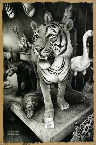 2013 - Wish List, Tigre - acrylique sur papier, 105,5 x 70 cm