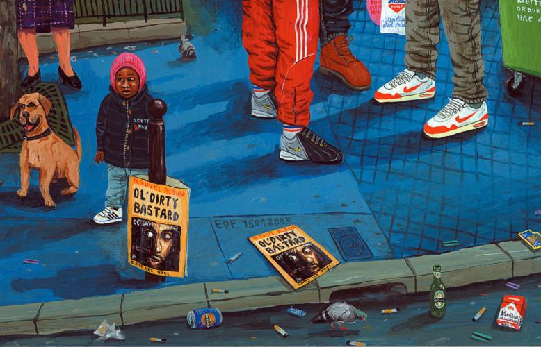 A-hauteur-de-bebe---acrylique-sur-bois---19-x-32-cm---2003