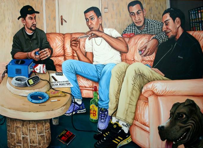 Bes,-David,-Patricio-&-Antonio---acrylique-sur-bois---80-x-110-cm---2003