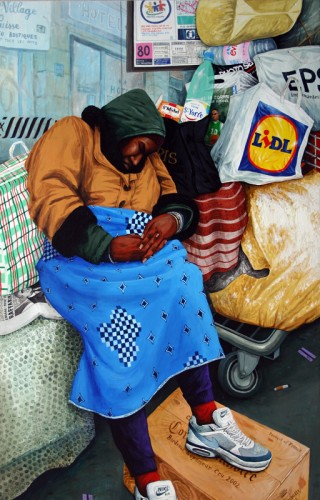 Elle-dort-a-l'abri---acrylic-on-wood---140-x-90-cm---2004