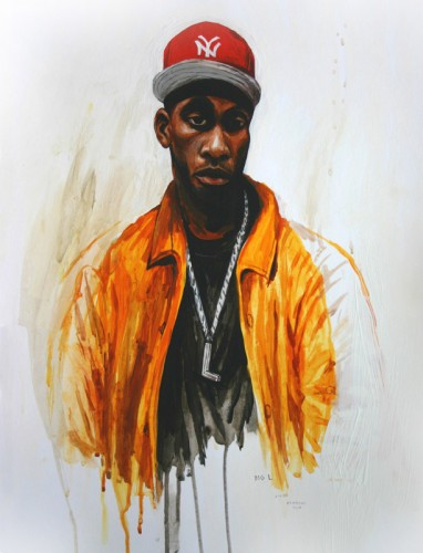 Hip-Hop-Tributes-1---Big-L---acrylic-on-paper---50-x-40-cm---2005