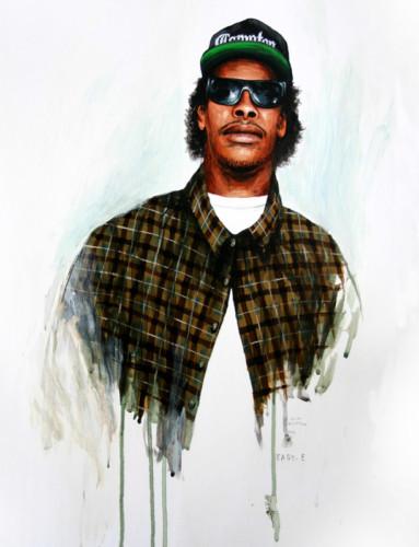 Hip-Hop-Tributes-1---Eazy-E---acrylic-on-paper---50-x-40-cm---2005