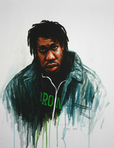 Hip-Hop-Tributes-1---Krs-One---acrylic-on-paper---50-x-40-cm---2005
