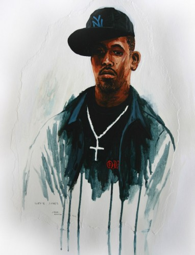 Hip-Hop-Tributes-1---Nasir-Jones---acrylic-on-paper---50-x-40-cm---2005