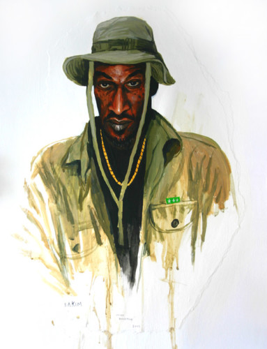 Hip-Hop-Tributes-1---Rakim---acrylic-on-paper---50-x-40-cm---2005