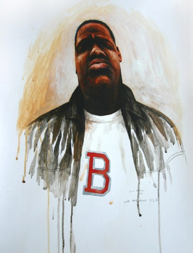 Hip-Hop-Tributes-1---The-Notorious-BIG---acrylic-on-paper---50-x-40-cm---2005