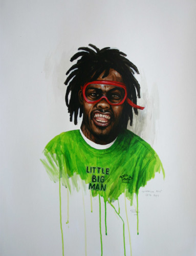 Hip-Hop-Tributes-2---Bushwick-Bill---acrylic-on-paper---65-x-50-cm---2006