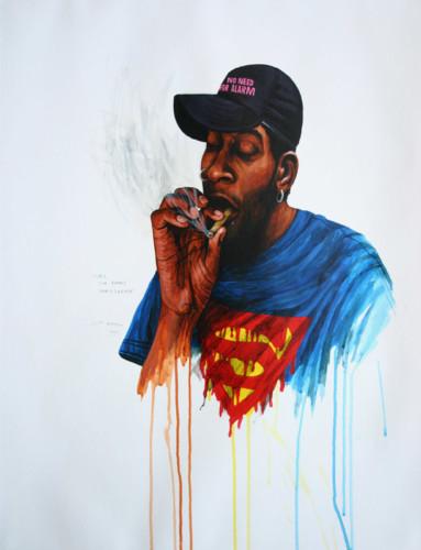 Hip-Hop-Tributes-2---Del-The-Funky-Homosapien---acrylic-on-paper---65-x-50-cm---2006
