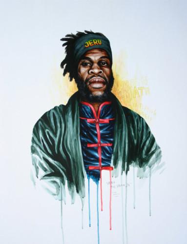 Hip-Hop-Tributes-2---Jeru-The-Damaja---acrylic-on-paper---65-x-50-cm---2006