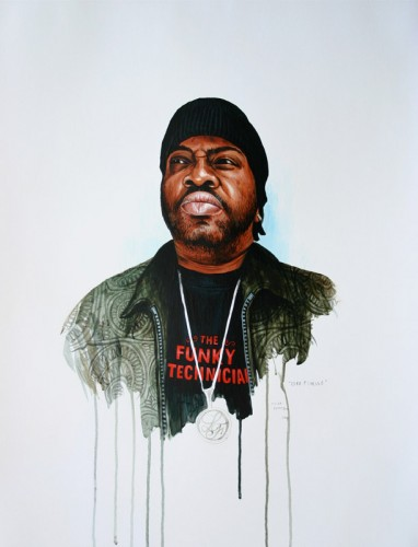 Hip-Hop-Tributes-2---Lord-Finesse---acrylic-on-paper---65-x-50-cm---2006