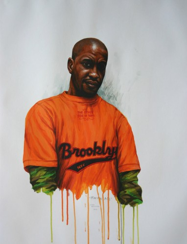 Hip-Hop-Tributes-2---Masta-Ace---acrylic-on-paper---65-x-50-cm---2006