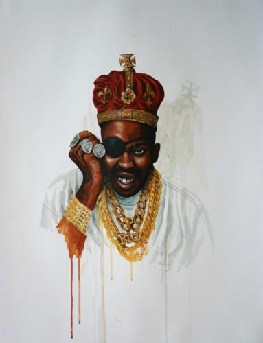 Hip-Hop-Tributes-2---Slick-Rick---acrylic-on-paper---65-x-50-cm---2006