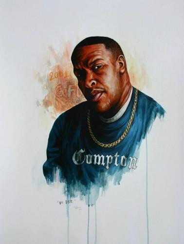 Hip-Hop-Tributes-3---Dr-Dre---acrylic-on-paper---62-x-47-cm---2007