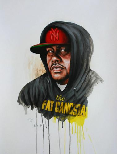 Hip-Hop-Tributes-3---Fat-Joe---acrylic-on-paper---62-x-47-cm---2007