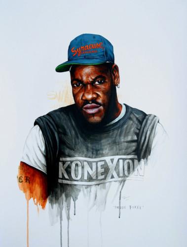 Hip-Hop-Tributes-3---Freddie-Foxxx---acrylic-on-paper---62-x-47-cm---2007