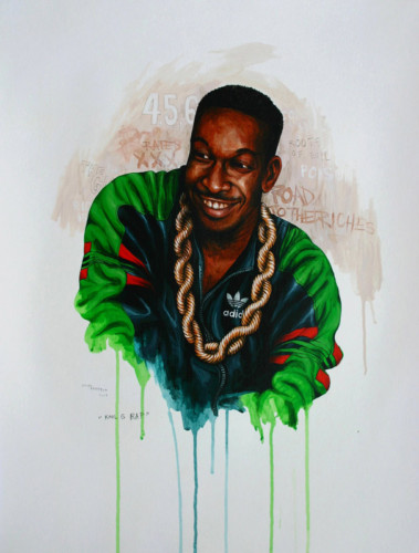 Hip-Hop-Tributes-3---Kool-G-Rap---acrylic-on-paper---62-x-47-cm---2007