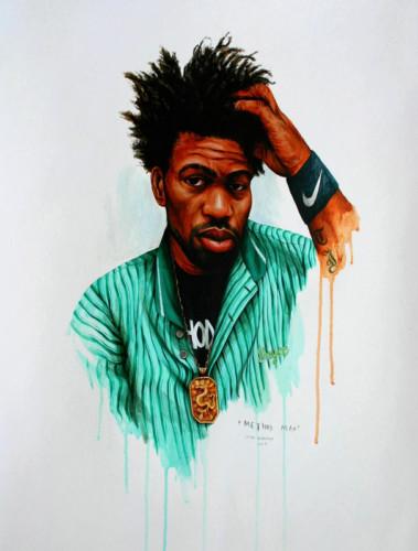 Hip-Hop-Tributes-3---Method-Man---acrylic-on-paper---62-x-47-cm---2007