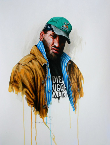 Hip-Hop-Tributes-3---RA-The-Rugged-Man---acrylic-on-paper---62-x-47-cm---2007