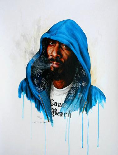 Hip-Hop-Tributes-3---Snoop-Dog---acrylic-on-paper---62-x-47-cm---2007