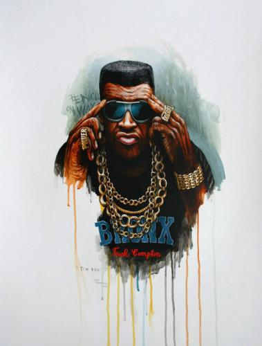 Hip-Hop-Tributes-3---Tim-Dog---acrylic-on-paper---62-x-47-cm---2007