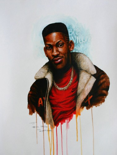 Hip-Hop-Tributes-3---Will-Smith-(The-Fresh-Prince)---acrylic-on-paper---62-x-47-cm---2007