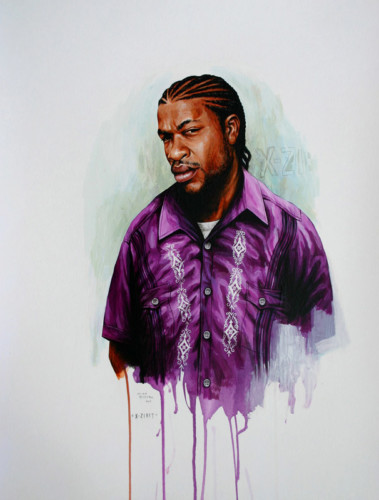Hip-Hop-Tributes-3---X-Zibit---acrylic-on-paper---62-x-47-cm---2007