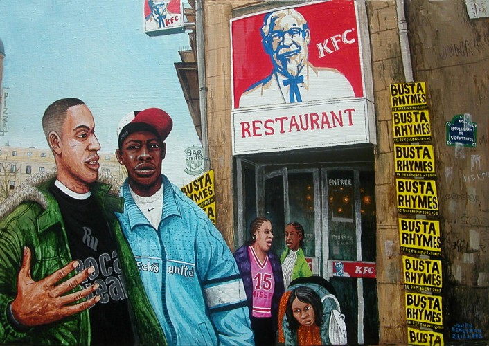 Le-Kfc-des-Halles---acrylic-on-wood---26-x-38-cm---2003