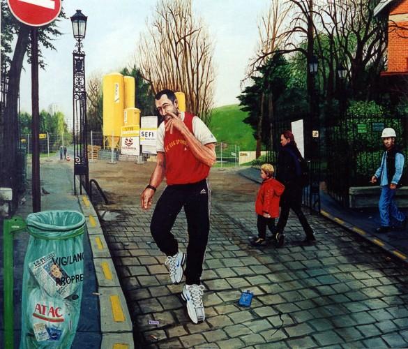Le-jogger---acrylique-sur-bois---130-x-150-cm---2003