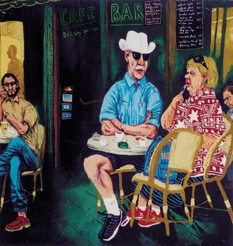 Les-americains---acrylique-sur-bois---30-x-30-cm---2001