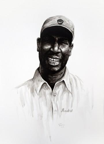 Les-details,-André,-Nouakchott---acrylic-on-paper---36-x-26-cm---2008