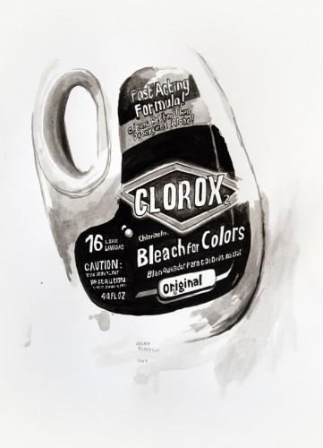 Les-details,-Clorox---acrylic-on-paper---36-x-26-cm---2007