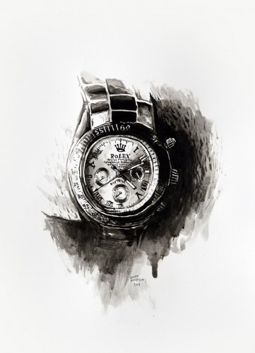 Les-details,-Dan's-Rolex---acrylic-on-paper---36-x-26-cm---2008