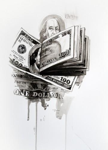 Les-details,-Dollars---acrylic-on-paper---36-x-26-cm---2008