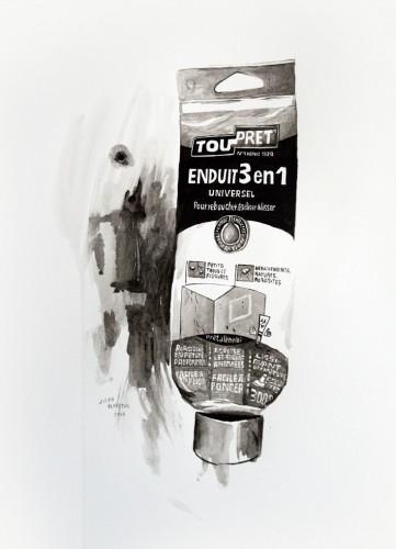 Les-details,-Enduit-Toupret---acrylic-on-paper---36-x-26-cm---2008