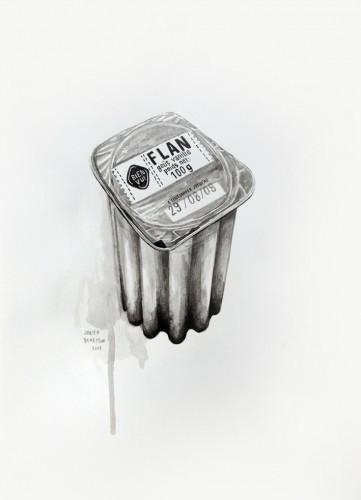 Les-details,-Flan-goût-vanille---acrylic-on-paper---36-x-26-cm---2008