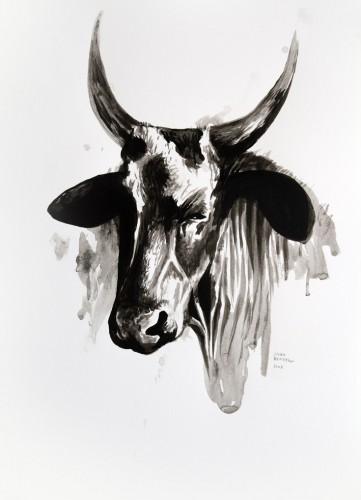 Les-details,-Vache-de-Mauritanie---acrylic-on-paper---36-x-26-cm---2008