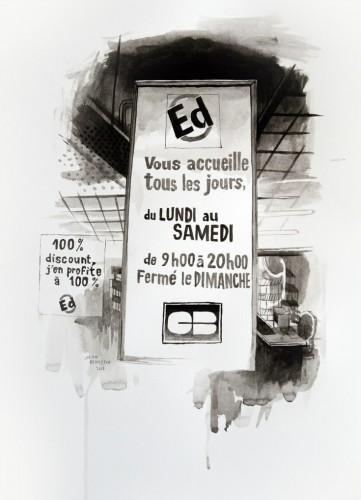 Les-details,-Vitrine-Ed---acrylic-on-paper---36-x-26-cm---2008