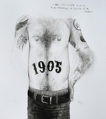 Marre-de-Vivre---1905---acrylique-sur-papier---34-x-31-cm---2009