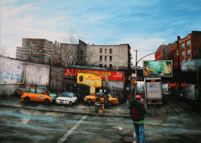 NYC---10th-avenue-Tire-Shop---acrylic-on-wood---122-x-170-cm---2007