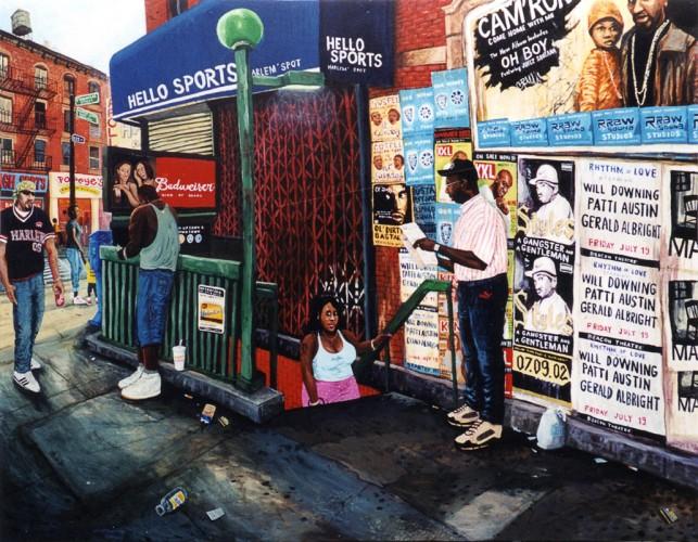 NYC---125-street---acrylique-sur-bois---141-x-180-cm---2002