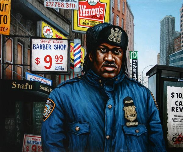 NYC---Agent-Little---acrylique-sur-bois---54-x-65-cm---2006