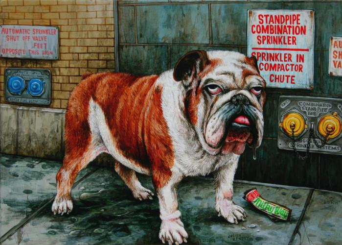 NYC---Butch---acrylic-on-wood---21,5-x-30-cm---2006