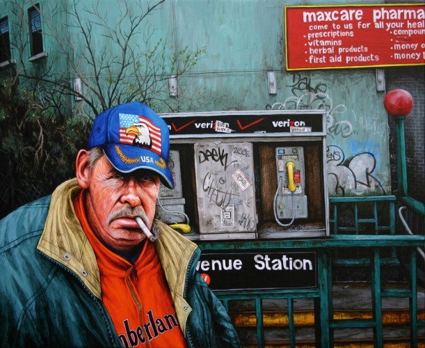 NYC---Hank---acrylique-sur-bois---54-x-65-cm---2006