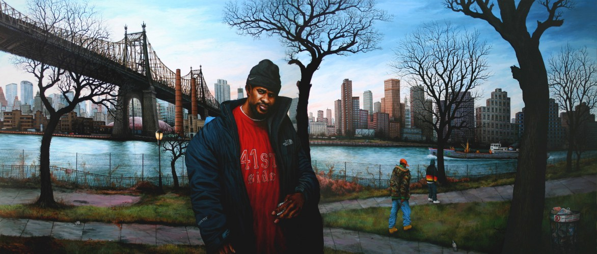 NYC---J-Roc,-Queensbridge---acrylique-sur-bois---150-x-350-cm---2006