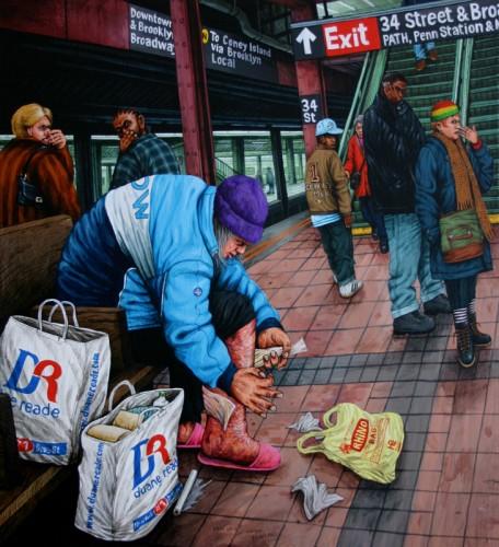 NYC---La-gangrène---acrylique-sur-bois---44-x-40-cm---2006