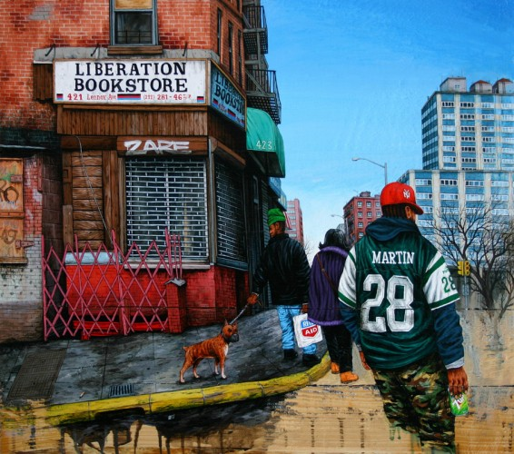 NYC---Liberation-Bookstore,-Harlem---acrylic-on-wood---57,5-x-64,5-cm---2006